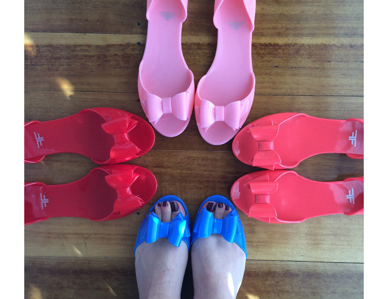 Firefly Red Jelly Shoes