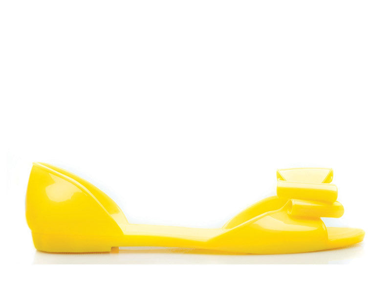 Sunfly Yellow Jelly Shoes