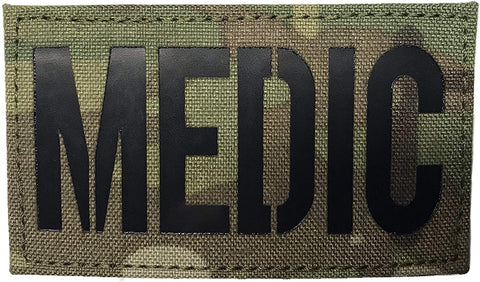 Laser Cut - Infrared IR Medic Patch in Multicam