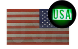 """Dual IR American Flag"" Tactical Morale Patch - USA Under IR Night Vision"