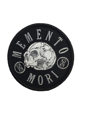 """Memento Mori - Remember Death"" Embroidered Morale Patch - F-Bomb Morale Gear"