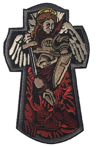 """St. Michael The Archangel""  Embroidered Morale Patch"