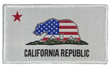 """Patriotic California Republic Flag"" Embroidered Morale Patch"