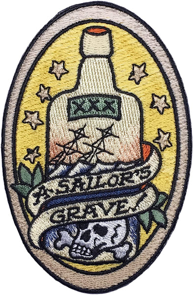 """A Sailors Grave"" Embroidered Morale Patch"