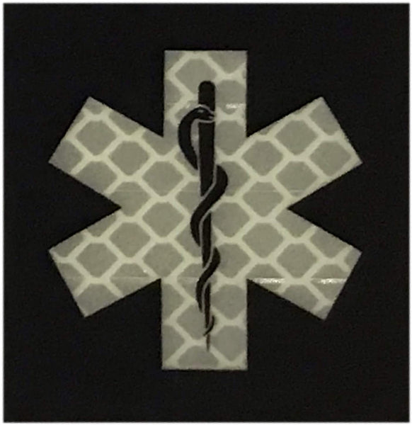 "Dual Reflective / Glow In The Dark ""Star of Life"" Morale Patch"