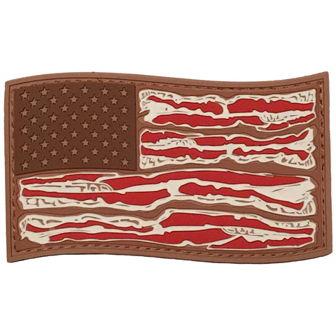 """American Bacon Flag"" PVC Morale Patch - F-Bomb Morale Gear"