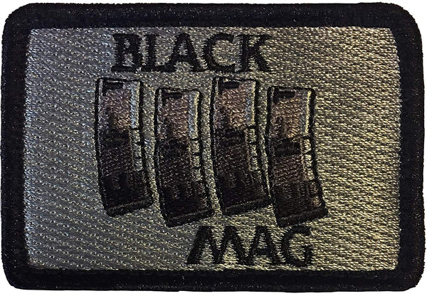 """Black Mag"" Embroidered Morale Patch"