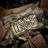 Laser Cut - Dual Infrared IR and Glow in The Dark - USCG - Tactical Morale Patch