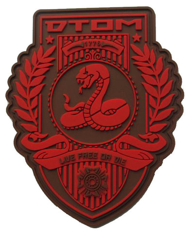 """DTOM - Don't Tread On Me"" - PVC Morale Patch - F-Bomb Morale Gear"