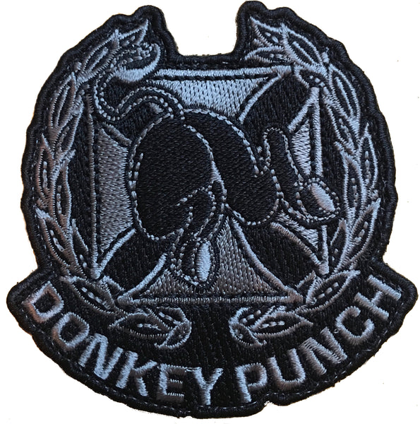 """Donkey Punch"" Embroidered Morale Patch"