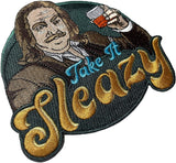 """Take It Sleazy"" Embroidered Morale Patch"