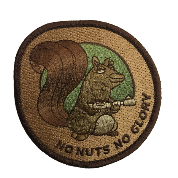 """No Nuts No Glory"" Embroidered Morale Patch - F-Bomb Morale Gear"