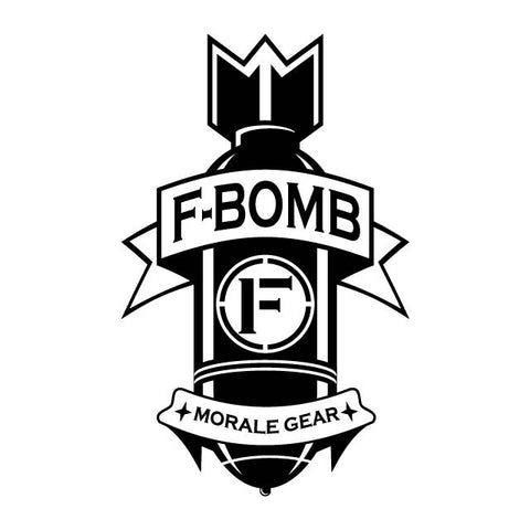 F-Bomb Die-Cut Vinyl Decal - F-Bomb Morale Gear