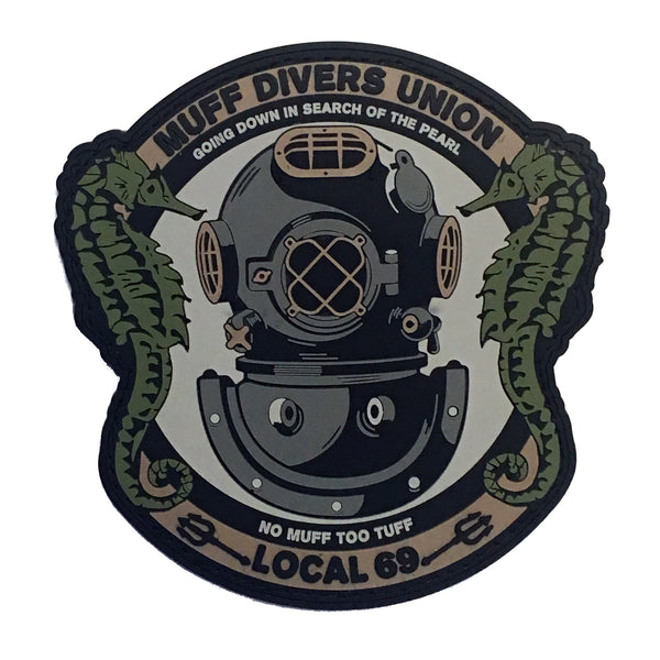 Muff Divers Union PVC Morale Patch - F-Bomb Morale Gear
