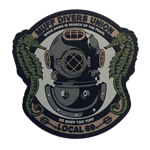 """Muff Divers Union"" PVC Morale Patch - F-Bomb Morale Gear"