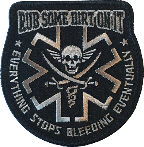 """Rub Some Dirt On It""  Embroidered Morale Patch - F-Bomb Morale Gear"
