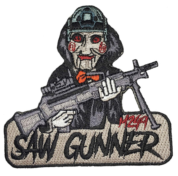 """M249 Saw Gunner"" Embroidered Morale Patch - F-Bomb Morale Gear"