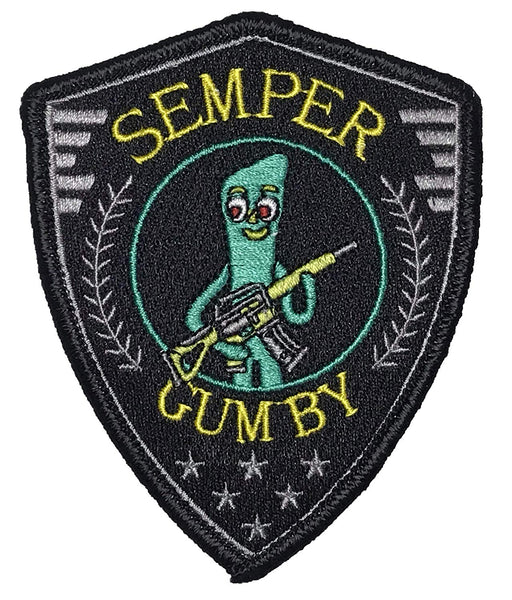 """Semper Gumby"" - Always Flexable Tactical Embroidered Morale Patch - F-Bomb Morale Gear"