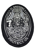 """St. Brendan Protect Us"" (Patron Saint of Sailors) - Embroidered Morale Patch - F-Bomb Morale Gear"