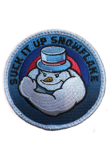 """Suck It Up Snowflake"" Embroidered Morale Patch - F-Bomb Morale Gear"