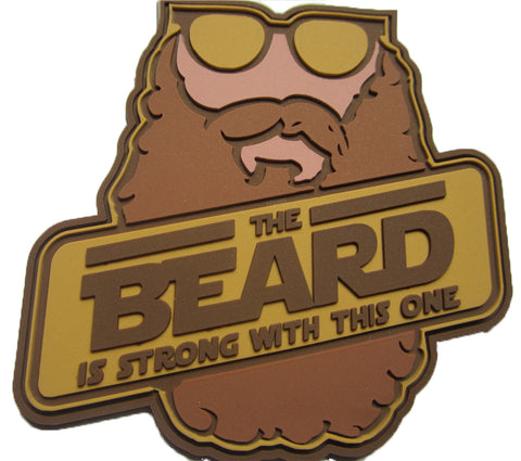The Beard Is Strong PVC Morale Patch by F-Bomb Morale Gear