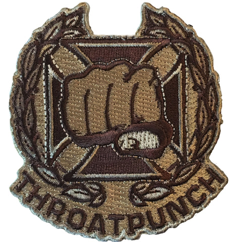 """Throat Punch"" Embroidered Morale Patch - F-Bomb Morale Gear"