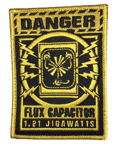 """Danger Flux Capacitor"" Embroidered Morale Patch"