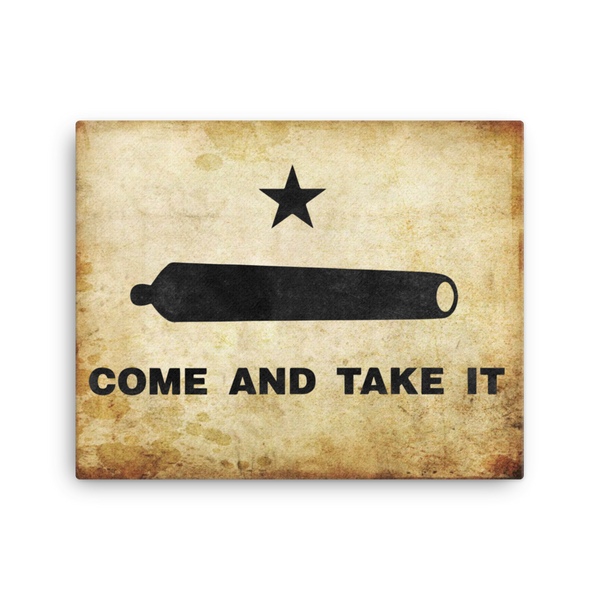 "Come and Take It - 16""x20"" Canvas Print - F-Bomb Morale Gear"