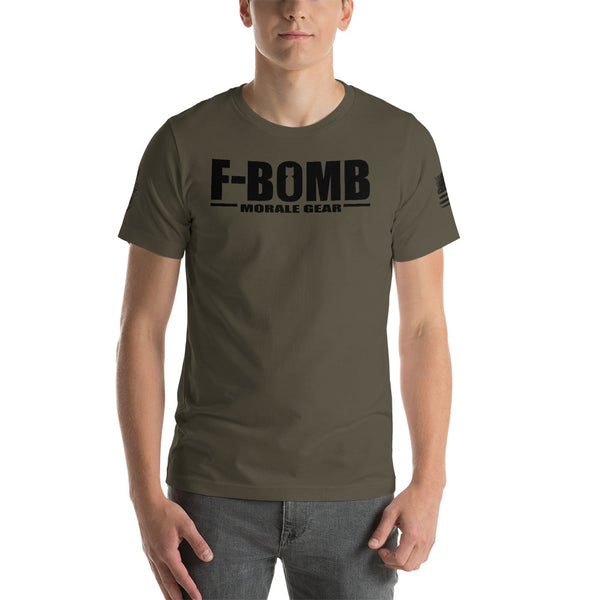 F-Bomb Morale Gear - Black Logo - Short-Sleeve T-Shirt - F-Bomb Morale Gear