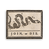 "Join or Die - 16""x20"" Canvas Print - F-Bomb Morale Gear"