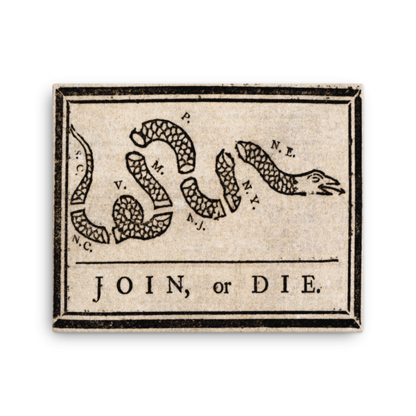 "Join or Die - 16""x20"" Canvas Print"