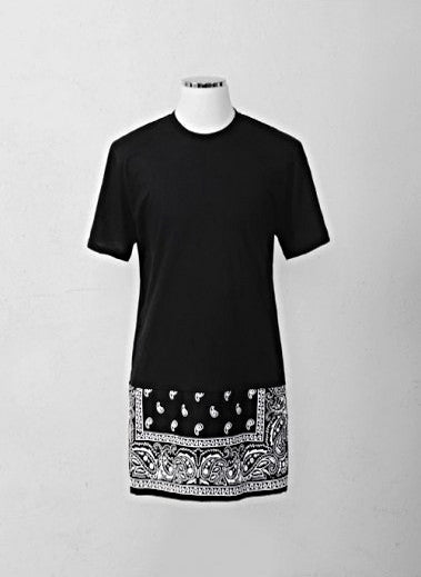 Bandana Extended Zip Long T-shirt 2 COLORS
