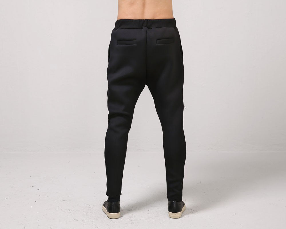 Contrast Zipped Neoprene Sweatpants