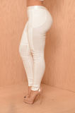Fancy Skinny Fit White Pants