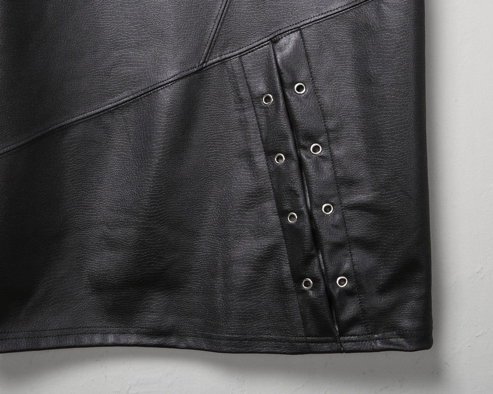Faux leather Zipped