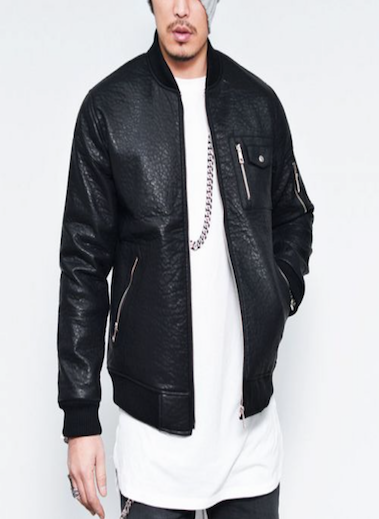Grained Leather Jacket