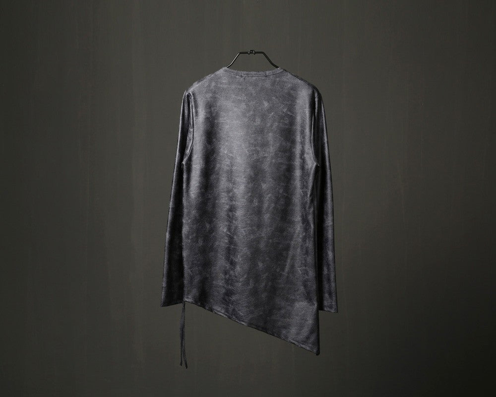 Leather Effect Zipper Side T-shirt