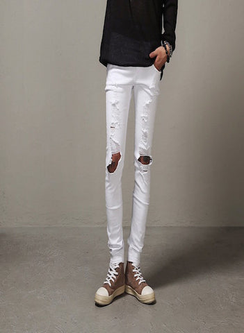 Skinny Jeans Destroyed White Edition