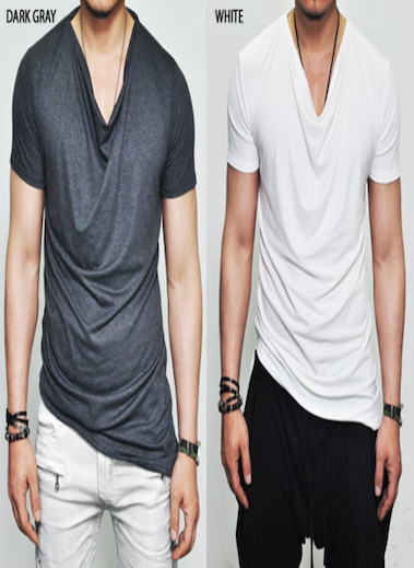 COWL NECK LUXE T-SHIRTS 3 COLORS