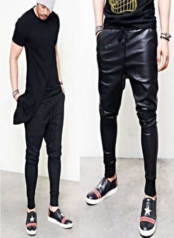 LEATHER OR SWEATPANTS