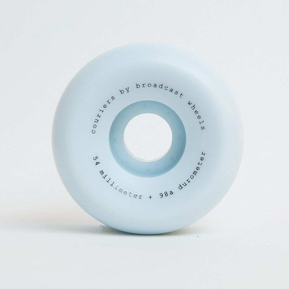 Broadcast Wheels 54mm Couriers Wheels - 98A Blue