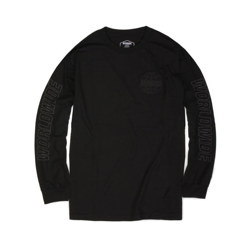 Butter Reflective Outline Long Sleeve Tee - Black