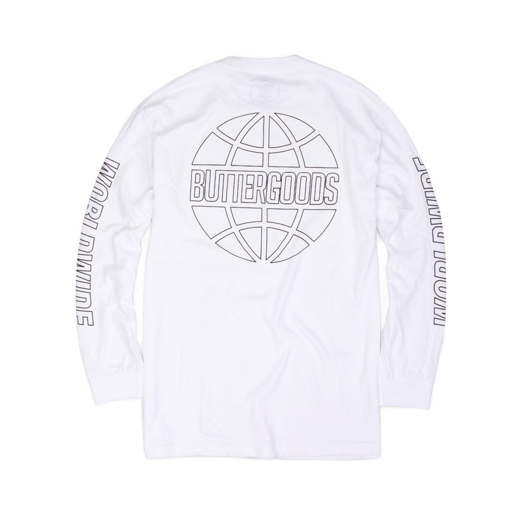 Butter Reflective Outline Long Sleeve Tee - White