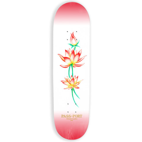 Passport Attractive Floral Nelumbo Skateboard Deck