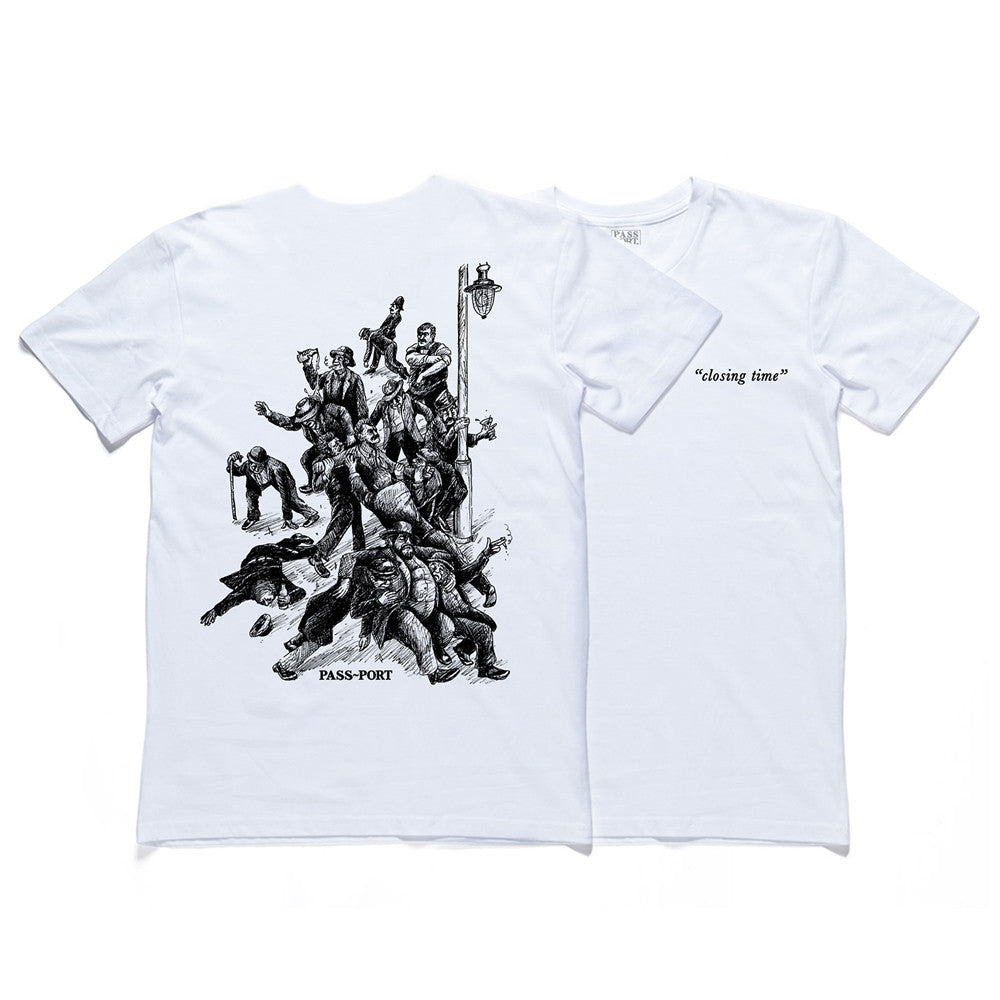 Pass Port Closing Time T-shirt - White