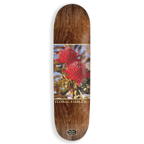 Pass Port Dean Palmer Floral Emblems Skateboard Deck