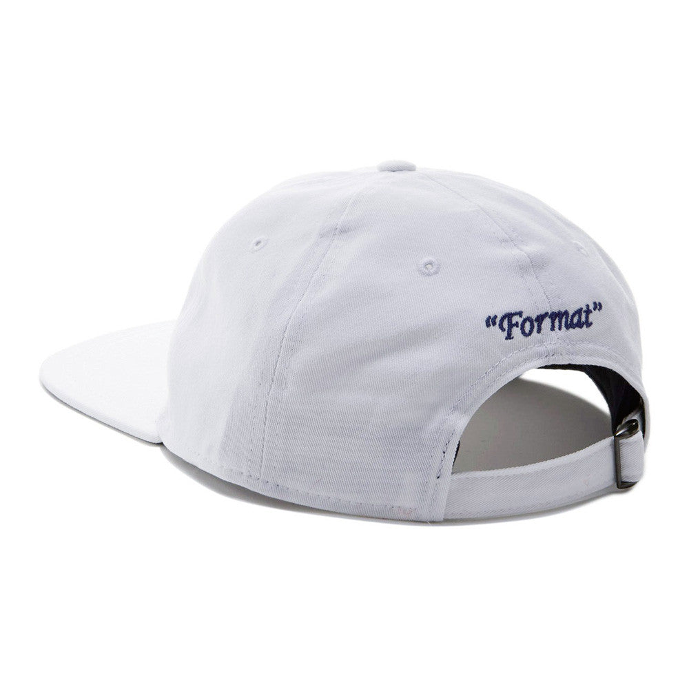 "Format ""Einstein"" II Unstructured Polo Hat - White"