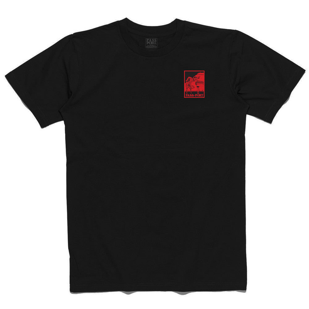 Pass Port Heated Player Patch T-Shirt - Black