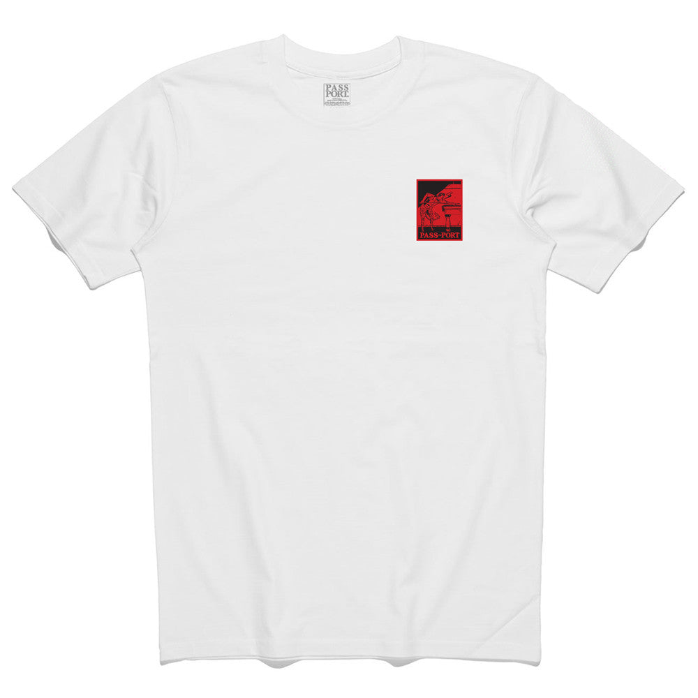 Pass Port Heated Player Patch T-Shirt - White