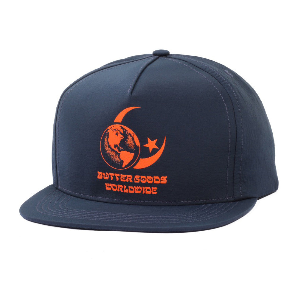 Butter Goods Crescent Snapback Cap - Navy